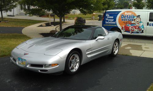Silver Chevrolet Corvette