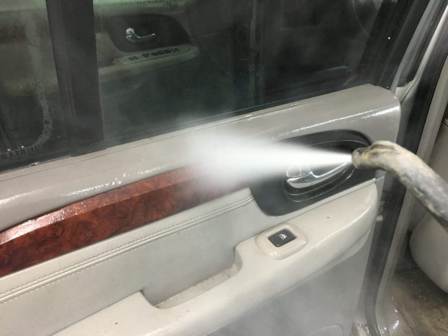 Steam cleaning for mold removal