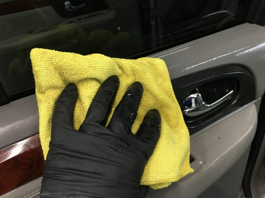 removing mold from a car interior