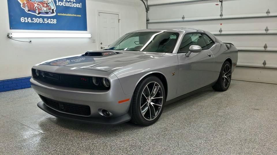 Silver Dodge Challenger